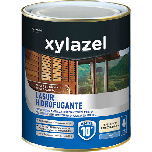 Protector de madera hidrofugante mate xylazel 2.5 l blanco
