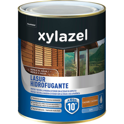 Protector de madera hidrofugante mate xylazel 750 ml castaño