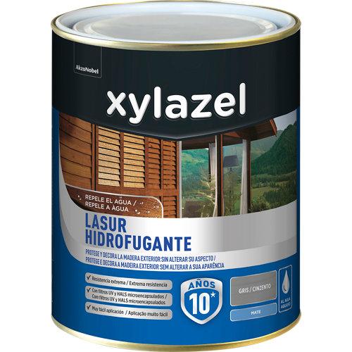 Protector de madera hidrofugante mate xylazel 750 ml gris