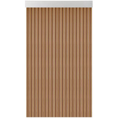 Cortina de puerta acudam cinta s370 marrón-marfil 100x205cm