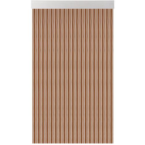 Cortina de puerta acudam cinta s370 marrón-blanco 80x230 cm