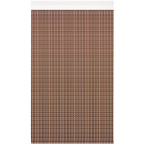 Cortina de puerta acudam florida op marrón 105x215 cm