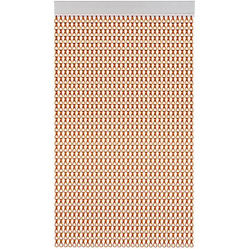 Cortina de puerta acudam cadena aluminio marrón 100x235 cm
