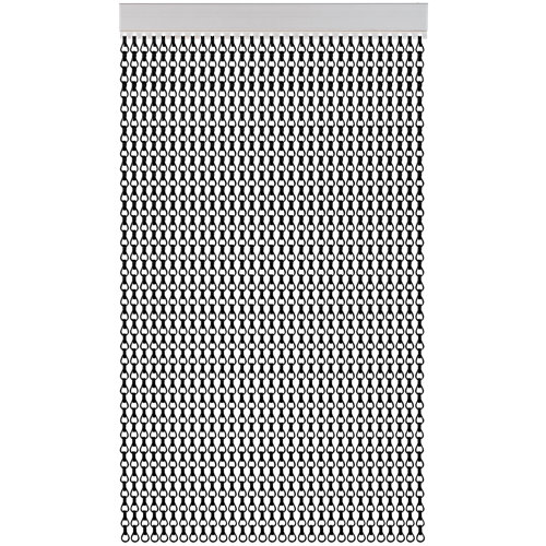 Cortina de puerta acudam cadena aluminio negro 110x230 cm