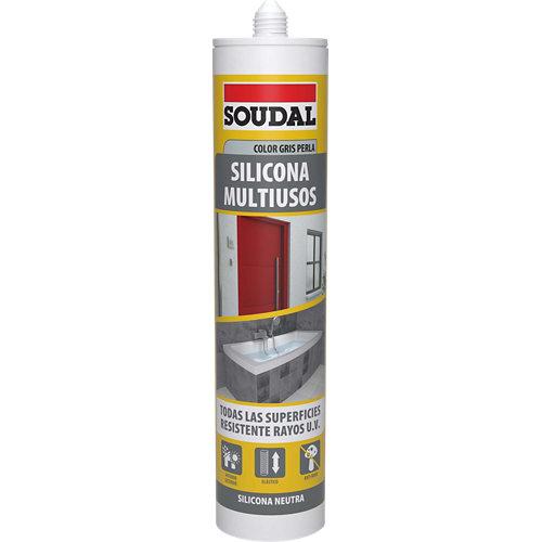 Silicona multiuso neutra soudal 290 ml gris