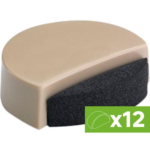 Lote 12 topes para puerta adhesivos de suelo color beige