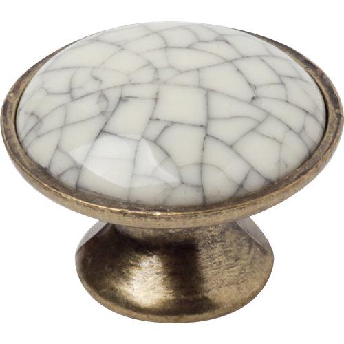 4 pomos craquele d30mm porcelana