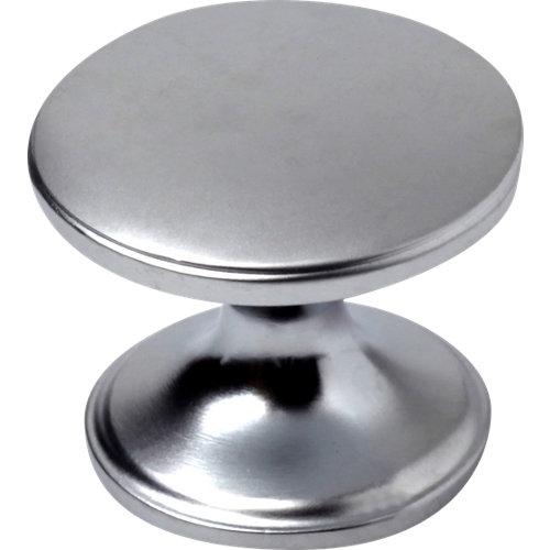Lote de 4 pomos oval de zamak cromo mate 41x20 mm