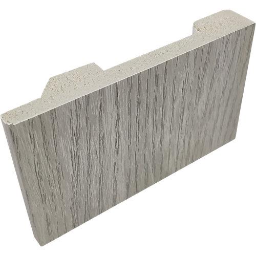 Rodapié gris de pvc 10 cm