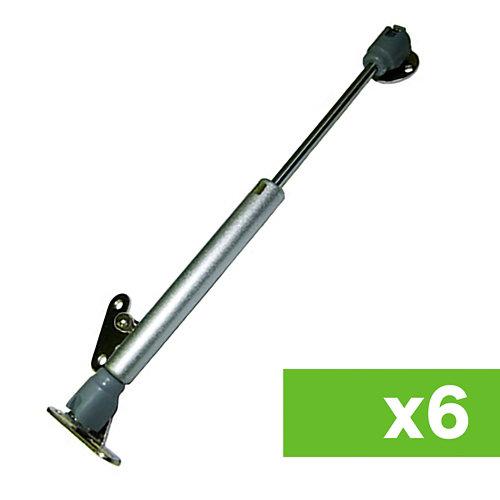 Lote 6 bisagras compás telescópico a gas para puerta elevable hasta 10 nw