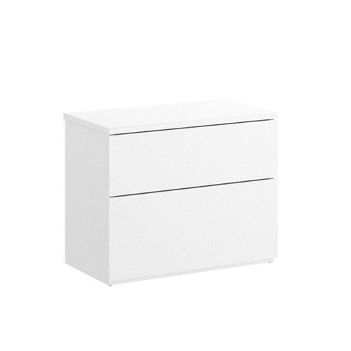 Cajonera 2 cajones blanco 42x52x34cm