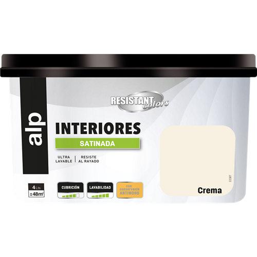 Pintura interior resistant satinada 4l crema