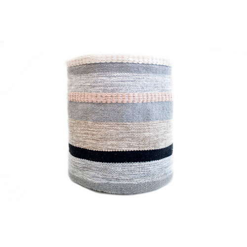 Cesta de algodón de 37x30x37 cm plegable