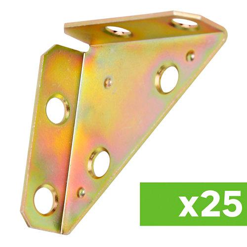 Lote 25 placas multiagujero de acero galvanizado