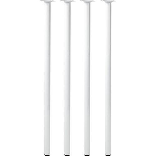 Lote 4 patas fijas de acero blancas para mesa de 80 cm