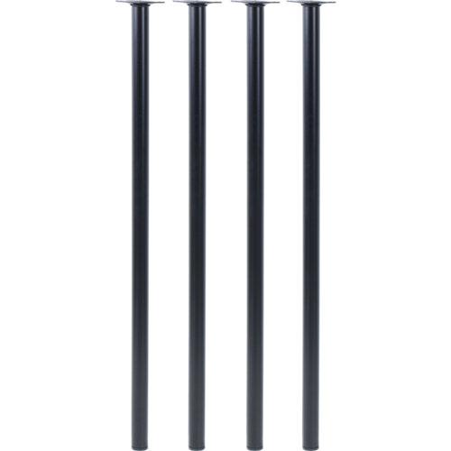 Lote 4 patas metálicas color negro 800 x 60 mm