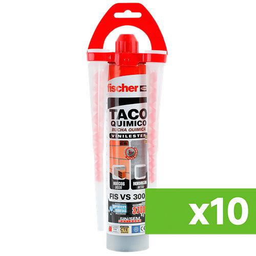 Lote 10 cartuchos fischer fis vs inyección química resina de viniléster 300 ml