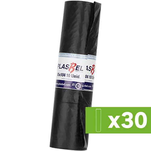 Lote 30 paq. 10 bolsas de basura negras de 120 litros