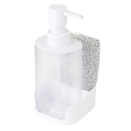 Set dosificador de jabon y esponja rengø blanco 9.5x8cm