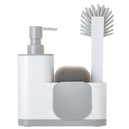 Set fregadero monobloc con dosificador jabón 4p ren blanco