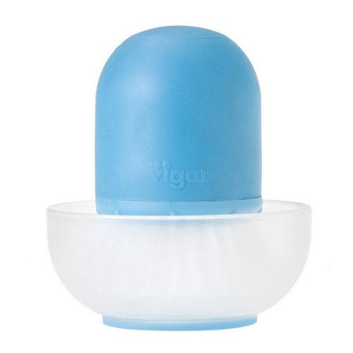 Cepillo lavaplatos mano ren c/dosificador y bandeja azul