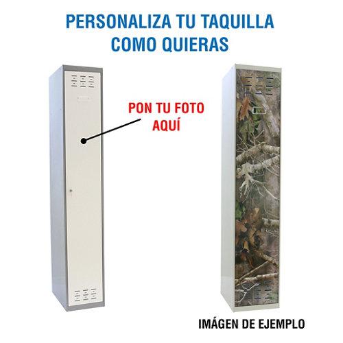 Taquilla 180x30x50 gris 1 puerta con foto