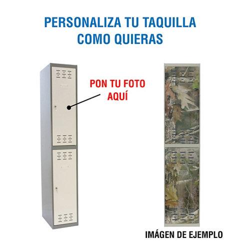 Taquilla 180x30x50 gris 1 cuerpo 2 puertas con foto