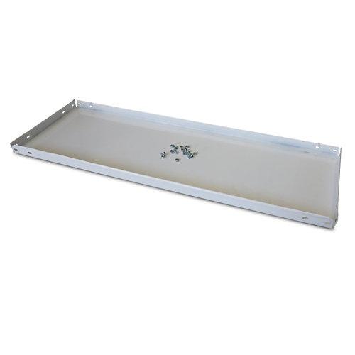 Balda metálica adicional 80x30cm con tornillos blanca 100kg
