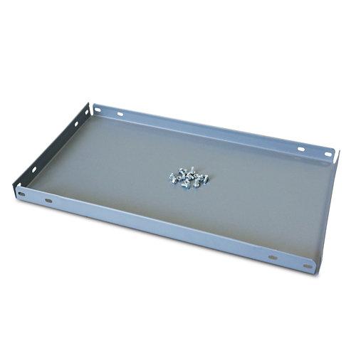Balda metálica adicional 80x30cm con tornillos gris 100kg/b
