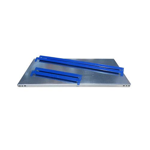 Balda metálica adicional 80x50cm sin tornillos azga 250kg/b