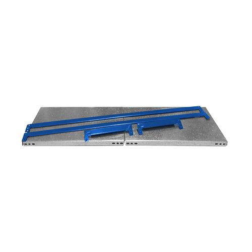 Balda metálica adicional 120x40cm sin tornillos azga 150kg/b