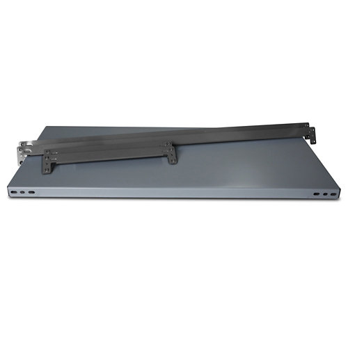 Balda metálica adicional 80x50cm sin tornillos gris 250kg/b