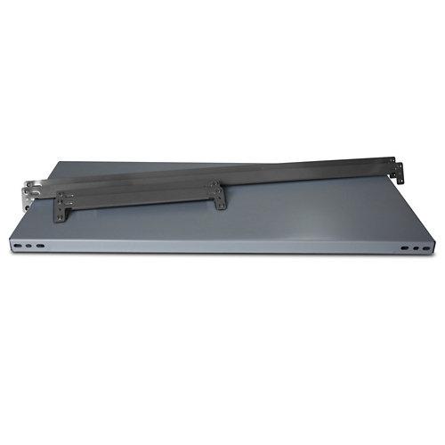 Balda metálica adicional 90x30cm sin tornillos gris 250kg/b