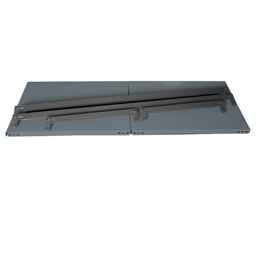 Balda metálica adicional 120x60cm sin tornillos gris 150kg/b