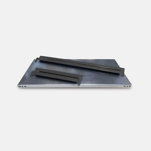 Balda metálica adicional 80x30cm sin tornillos grga 250kg/b