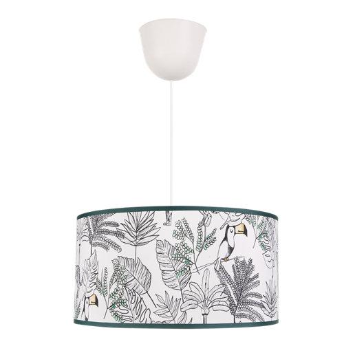 Lámpara tucán e27 una luz d35 blanca-verde inspire