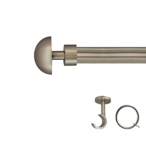 Kit barra metal ø 20mm seta azero de 200cm c/anillas techo