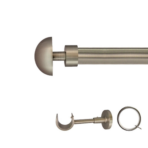 Kit barra metal ø 30mm seta azero de 200cm c/anillas pared