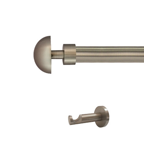 Kit barra metal ø 20mm seta azero 150cm s/anillas pared