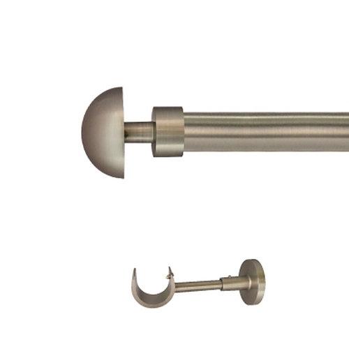 Kit barra metal ø 30mm seta azero 150cm s/anillas pared