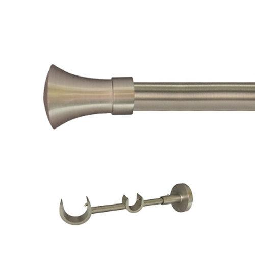 Kit 2 barras metal ø 30-20mm meta azero 200cm s/anilla pared