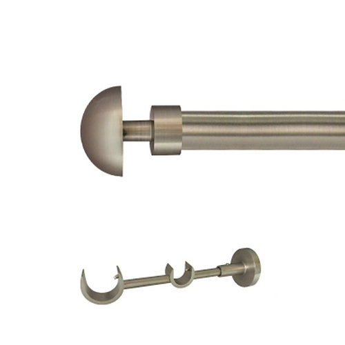 Kit 2 barras metal ø 30-20mm seta azero 250cm s/anilla pared
