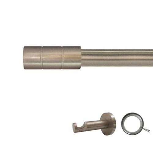 Kit barra metal ø 20mm pipe azero de 250cm c/anillas pared