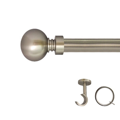 Kit barra metal ø 20mm cala azero de 200cm c/anillas techo