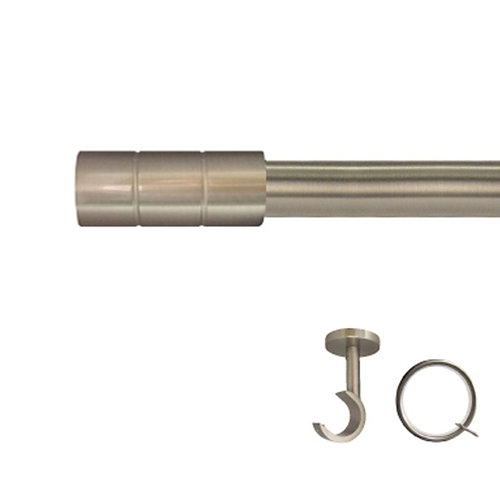 Kit barra metal ø 30mm pipe azero de 200cm c/anillas techo