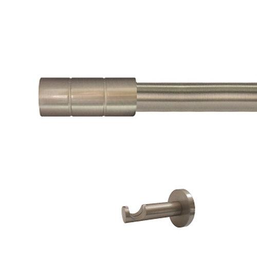 Kit barra metal ø 20mm pipe azero 200cm s/anillas pared