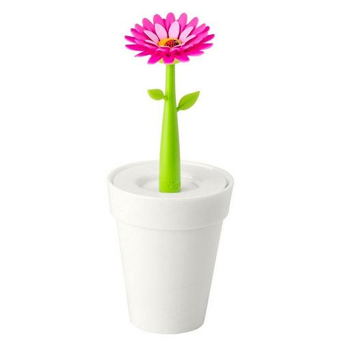 Vaso de baño flower power blanco