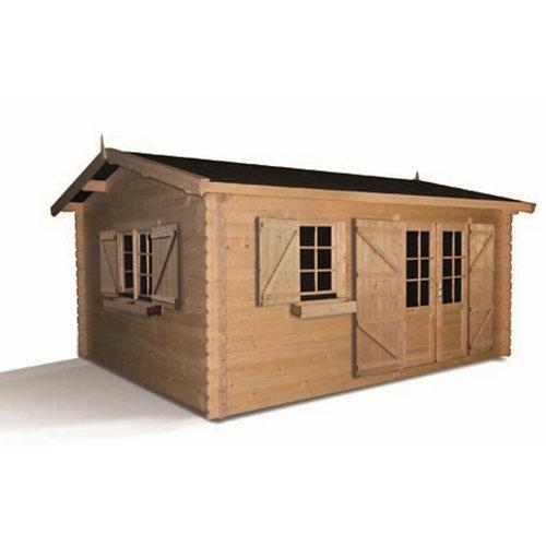 Caseta de madera 2293 de 538x263x538 cm y 19.82 m2