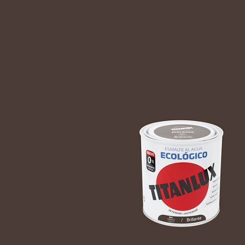 Esmalte de agua titanlux tabaco brillante 250 ml