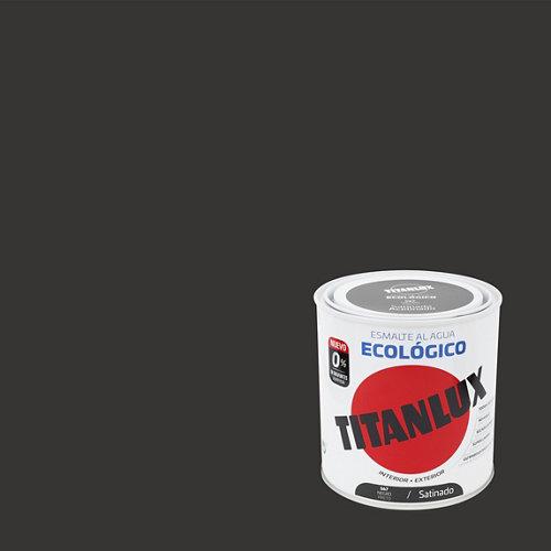 Esmalte de agua titanlux negro satinado 250 ml